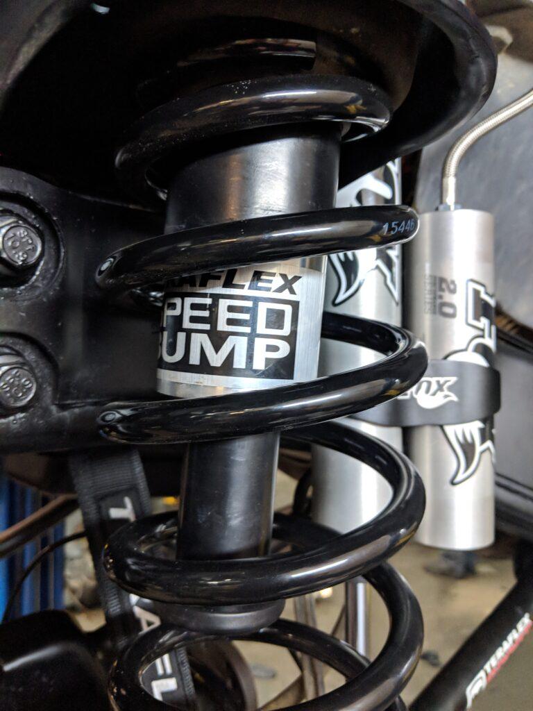 close up of car shocks