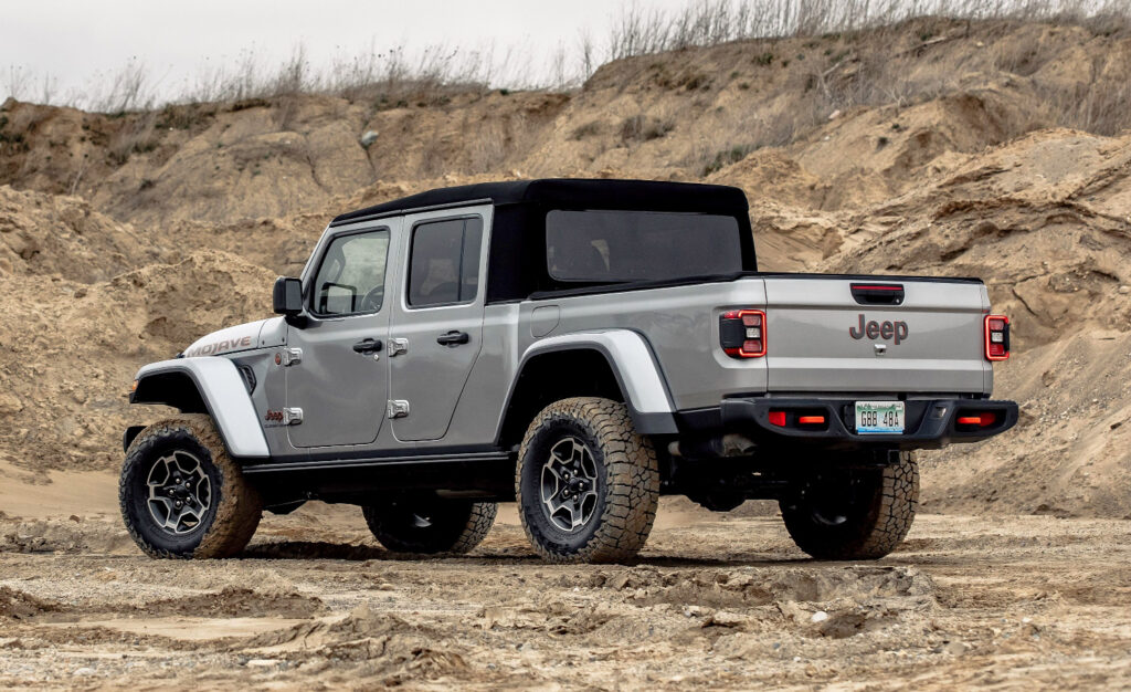 jeep gladiator with dirt background